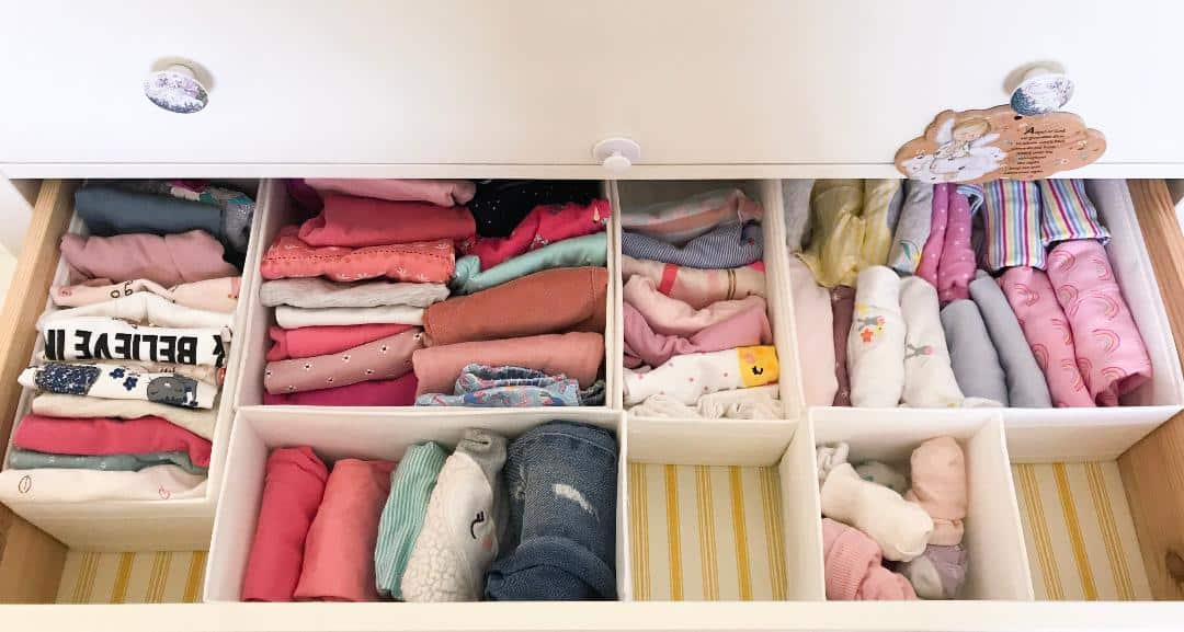 konmari folding method for clothes