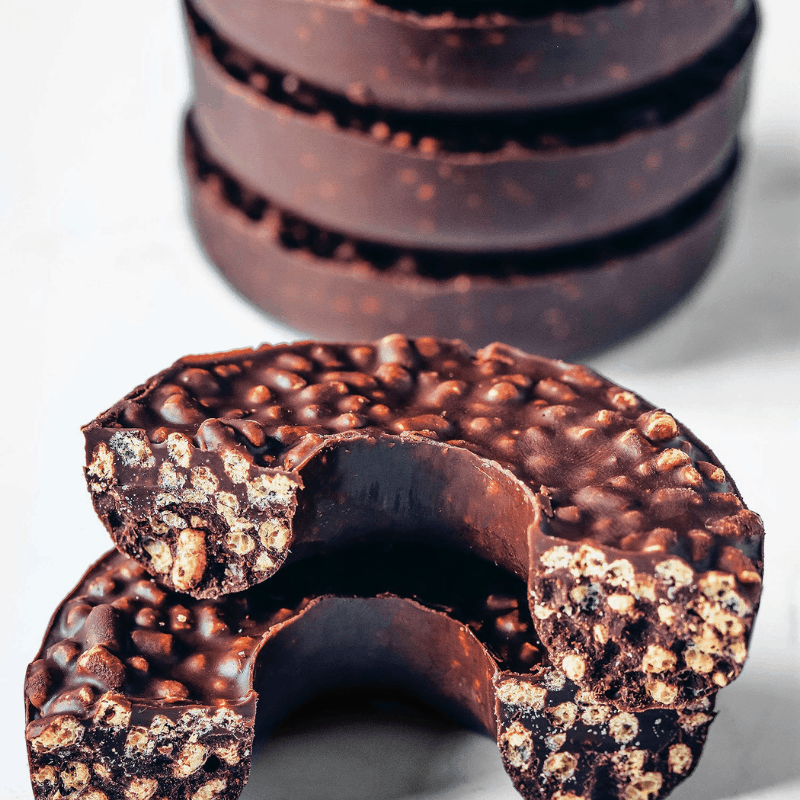 3-Ingredient Chocolate Crunch Doughnuts (Vegan) by Nadia's Healthy Kitchen