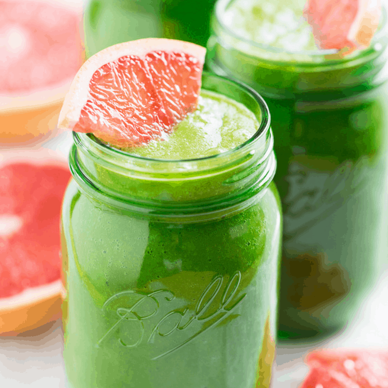 Pink Grapefruit Green Smoothie