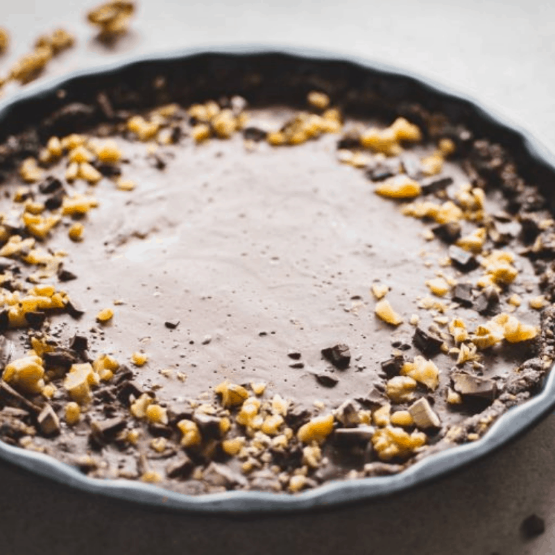 No Bake Cacao Coconut Tart by Plant Baked
